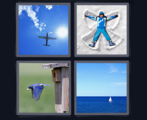 blue 4 pics 1 word